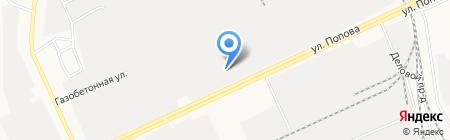Алтаймельснаб на карте Барнаула