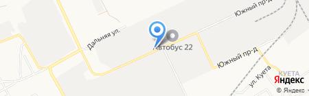 НСК на карте Барнаула