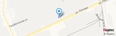 Терминал на карте Барнаула