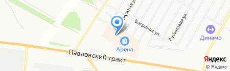 Золотея на карте Барнаула