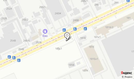 Автостоянка. Схема проезда в Барнауле