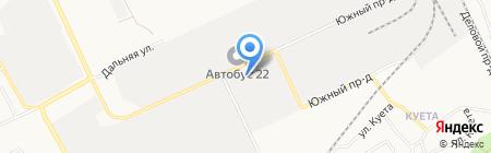Пожарная часть №5 Индустриального района на карте Барнаула