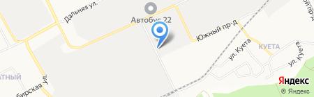 Атолл на карте Барнаула