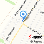 Запад на карте Барнаула