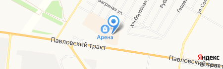 Бижу-Вяжу на карте Барнаула