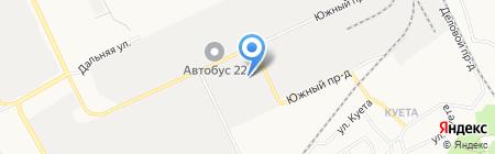 Барнаулводстрой на карте Барнаула