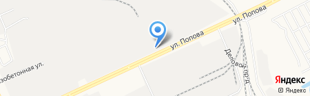 УАЗ-Центр на карте Барнаула
