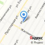 Автопарк Линкольн 22 на карте Барнаула