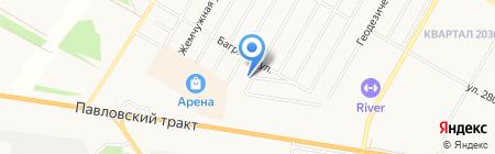 Центр по ремонту изделий из пластика на карте Барнаула