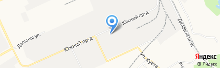 Алатырь на карте Барнаула