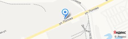 Тейси на карте Барнаула