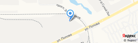 ГРИФ на карте Барнаула