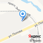 Эдос на карте Барнаула