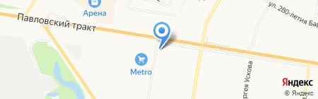 Краевой автомобильный рынок на карте Барнаула