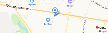 Движение на карте Барнаула