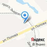 Венталь на карте Барнаула