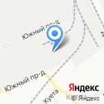 Шахтер на карте Барнаула