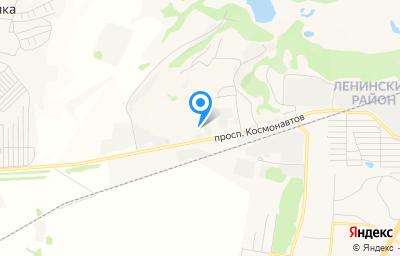 Местоположение на карте пункта техосмотра по адресу г Барнаул, пр-кт Космонавтов, д 52Д