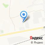 Аист на карте Барнаула