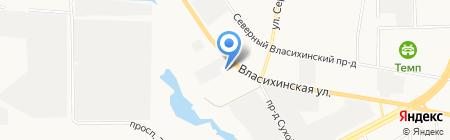 Пузыри на карте Барнаула