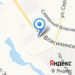 Автокорея на карте Барнаула