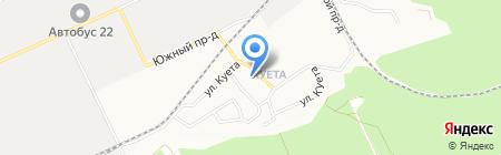 Центр трудовой адаптации осужденных на карте Барнаула