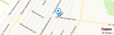 Люмен на карте Барнаула