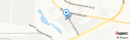 Завод окон О! на карте Барнаула