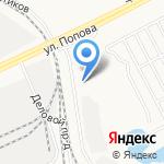Драйв на карте Барнаула
