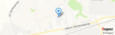 Алтайский подсолнух на карте Барнаула