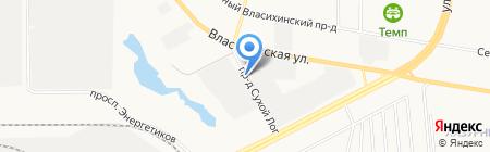 Служба эвакуации транспорта на карте Барнаула