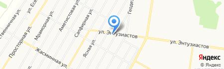 База Деда Мороза на карте Барнаула