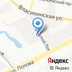 Алтайдорстрой на карте Барнаула