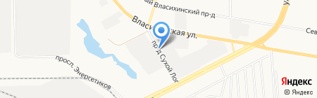 Мотор-сервис на карте Барнаула