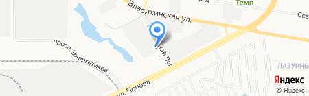 Сибирское снабжение на карте Барнаула