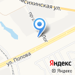 Сибматрас на карте Барнаула