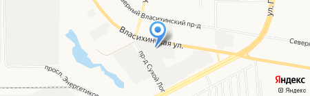 Сеошник на карте Барнаула