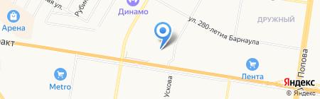 Стольный Град на карте Барнаула