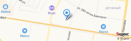 Торэкс на карте Барнаула