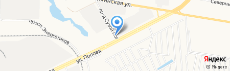 Авто-тракт на карте Барнаула
