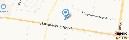 Аполло на карте Барнаула