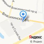 Авангард-Мастер на карте Барнаула