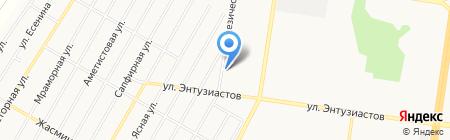 Декстоун на карте Барнаула