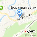 Удачка на карте Барнаула