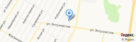 Акварики на карте Барнаула