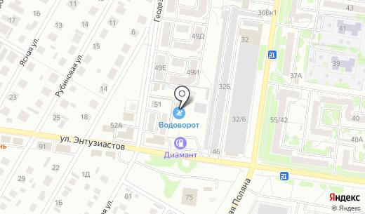 Космодром. Схема проезда в Барнауле