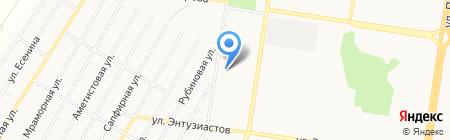 Солнечная поляна на карте Барнаула
