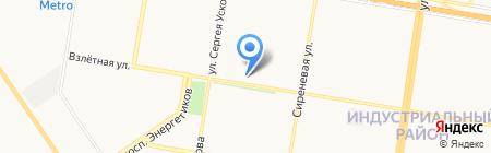 Магазин Вкуснятины на карте Барнаула