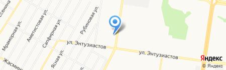 Авалон на карте Барнаула