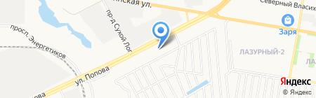 М-фасад на карте Барнаула